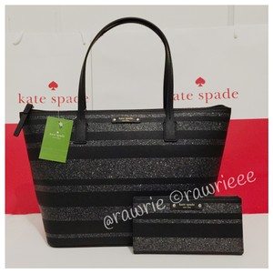 Kate Spade Glitter Holiday Set Matching Set Gift Set Tote in Black