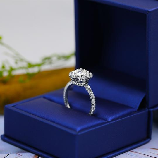 Platinum Engagement with Center 2.02ct Cushion Cut Ring Image 3