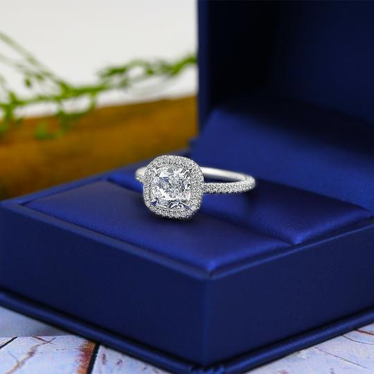 Platinum Engagement with Center 2.02ct Cushion Cut Ring Image 4