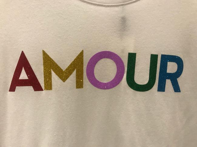 Milly Amour Neiman Marcus Glitter Rainbow T Shirt White Image 1