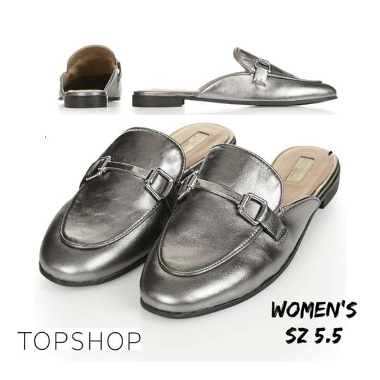 Preload https://img-static.tradesy.com/item/23778574/topshop-silver-kylie-loafer-flats-size-us-55-regular-m-b-0-0-540-540.jpg