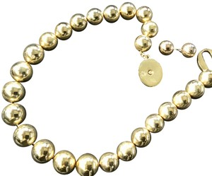 Brooks Brothers Link Bold ball choker and earrings-