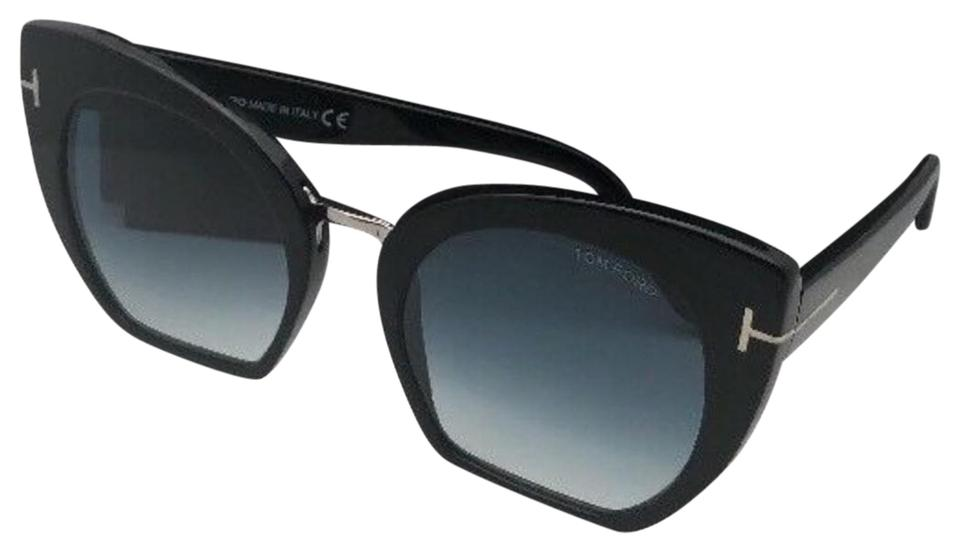 39635e1296797 Tom Ford Samantha-02 Tf 553 01w 55-21 Black   Silver W Blue Fade ...