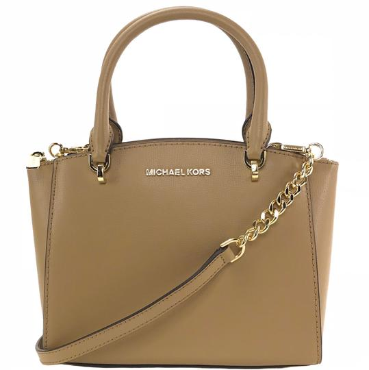 Preload https://img-static.tradesy.com/item/23778761/michael-kors-ellis-sm-convertible-satchel-brown-leather-cross-body-bag-0-1-540-540.jpg