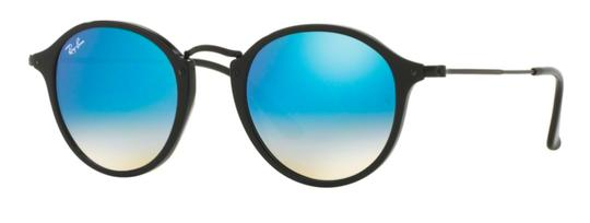 Preload https://img-static.tradesy.com/item/23778782/ray-ban-black-gradient-blue-mirrored-lens-free-3-day-shipping-new-rounded-rb-2447-9014o-sunglasses-0-0-540-540.jpg