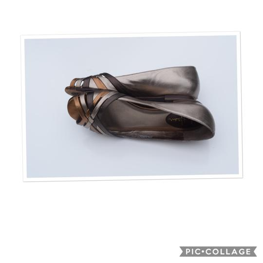 Cole Haan tan/silver Flats Image 1