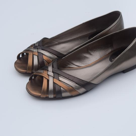 Cole Haan tan/silver Flats Image 10