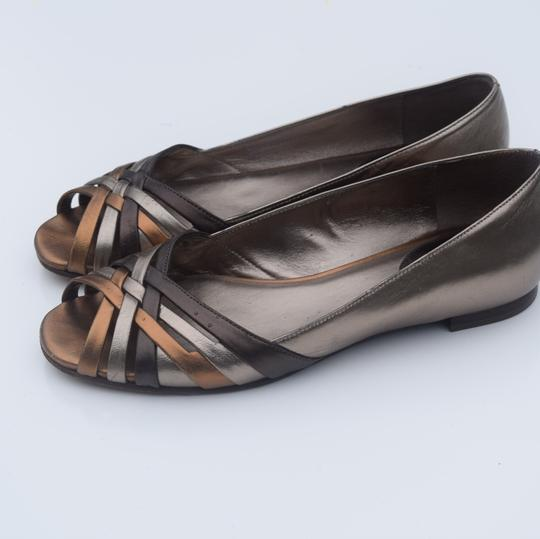 Cole Haan tan/silver Flats Image 2