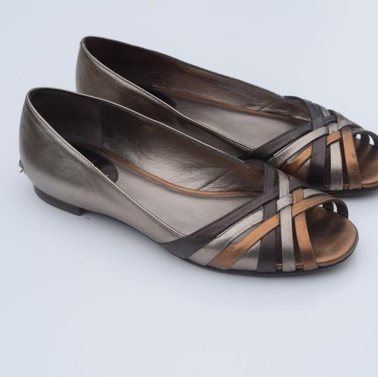 Cole Haan tan/silver Flats Image 4