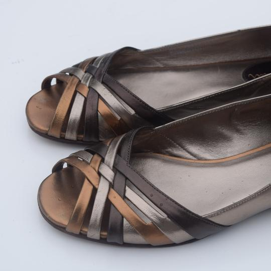 Cole Haan tan/silver Flats Image 8