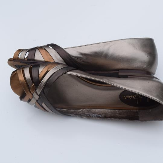 Cole Haan tan/silver Flats Image 9