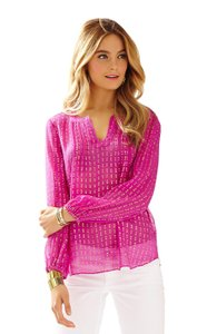 Lilly Pulitzer Top Pink, Gold