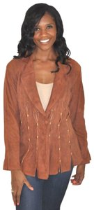 Claude Montana Brown Leather Jacket
