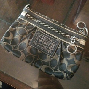 Coach NAVY AND SILVER Clutch