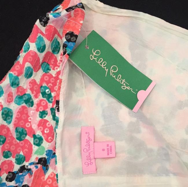 NEW Lilly Pulitzer Mini Skirt White, Black, Pink, Coral & Blue Image 3