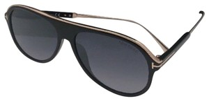 08fe35ad1e1 Tom Ford New Tf 5523-b 001 50-20 145 Black   Gold Frame W  Clear ...