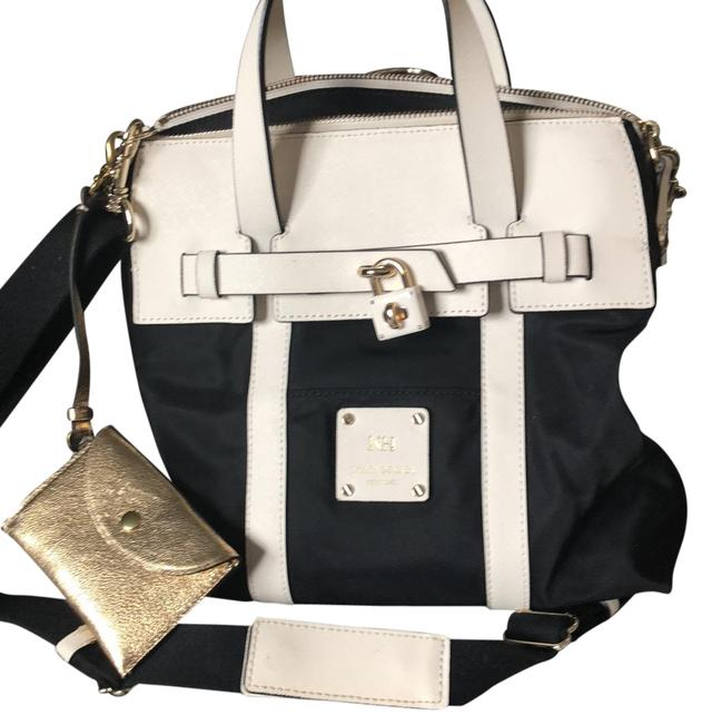 Item - Jetsetter Convertible Black and Cream. Nylon Saffiano Leather Backpack