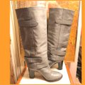 Coach Gray/Silver Boots Image 1