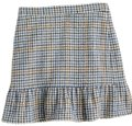 J.Crew Mini Skirt Navy, cream, brown Image 0