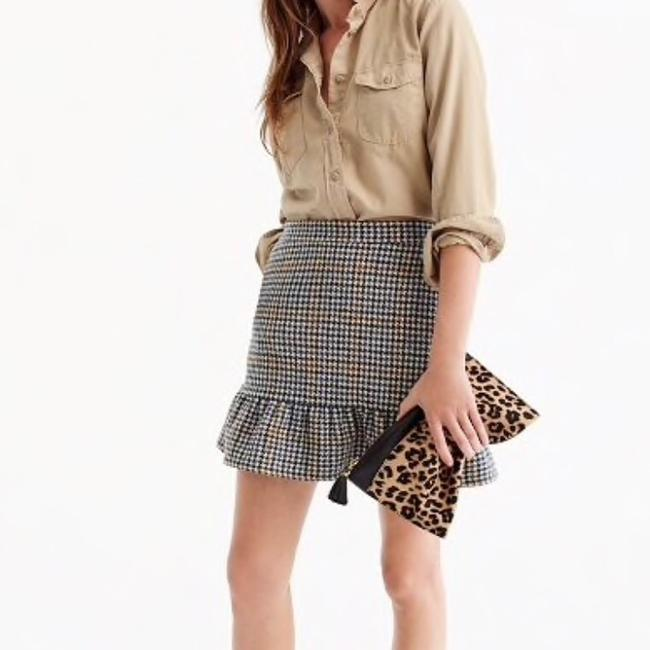 J.Crew Mini Skirt Navy, cream, brown Image 2