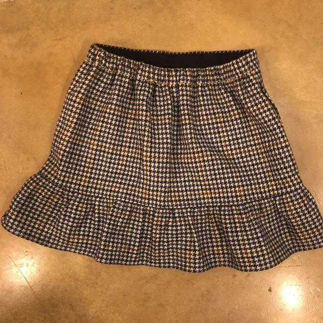 J.Crew Mini Skirt Navy, cream, brown Image 5