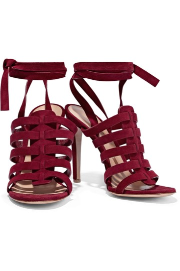 Gianvito Rossi Burgundy Pumps Image 0