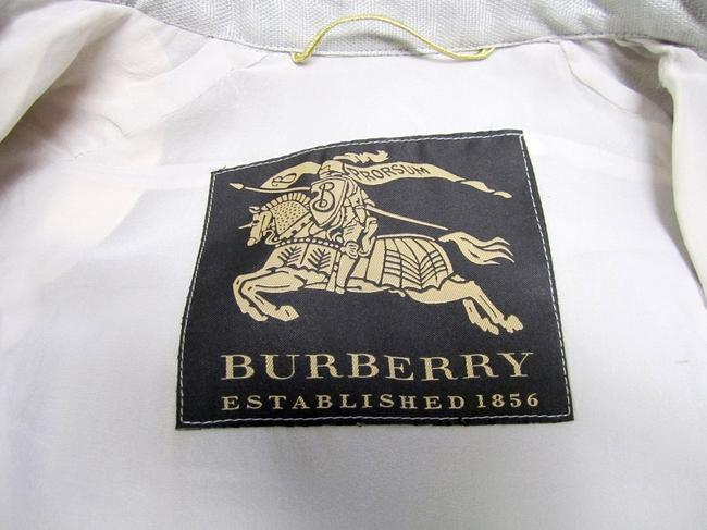 Burberry Ruffle Silk Belted Pleated Trench Coat Image 7