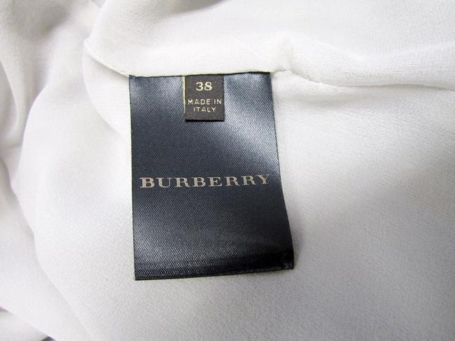 Burberry Ruffle Silk Belted Pleated Trench Coat Image 8