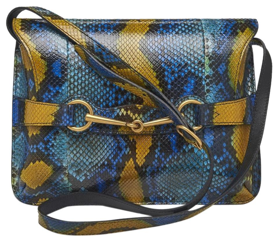 c0d90c3ac244 Gucci Multi Color Python Cross Body Bag - Tradesy