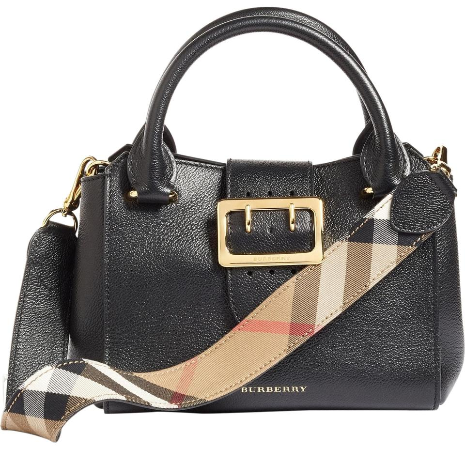 b33fbae99c90 Burberry Buckle Small Tote Black Leather Cross Body Bag - Tradesy