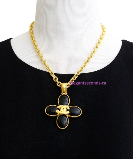 Preload https://img-static.tradesy.com/item/23779655/chanel-vintage-gold-plated-stone-pendant-necklace-0-1-540-540.jpg