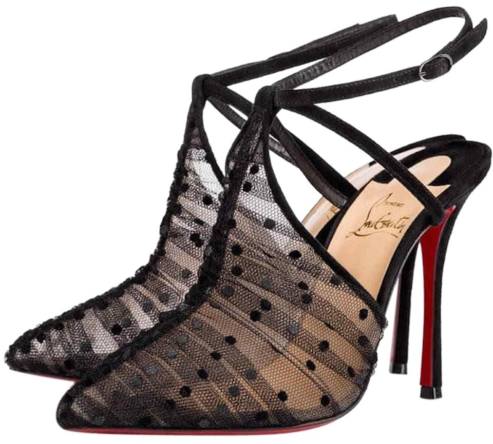 025bf6aea5 Christian Louboutin Acide Lace Stiletto Ankle Strap Pigalle black Pumps  Image 0 ...