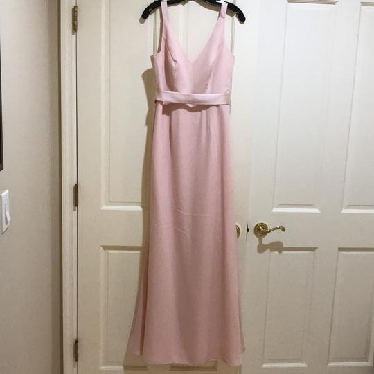 Preload https://img-static.tradesy.com/item/23779839/vera-wang-bridal-blush-crepe-long-v-neck-gown-with-open-back-feminine-bridesmaidmob-dress-size-8-m-0-0-540-540.jpg