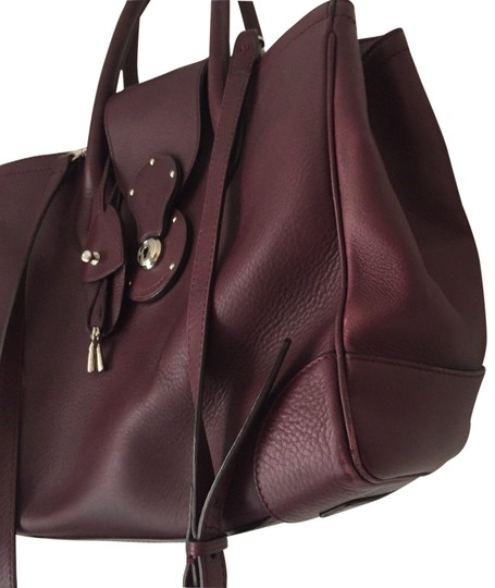 Preload https://img-static.tradesy.com/item/23779961/ralph-lauren-msrp-000-burgundy-leather-tote-0-2-540-540.jpg