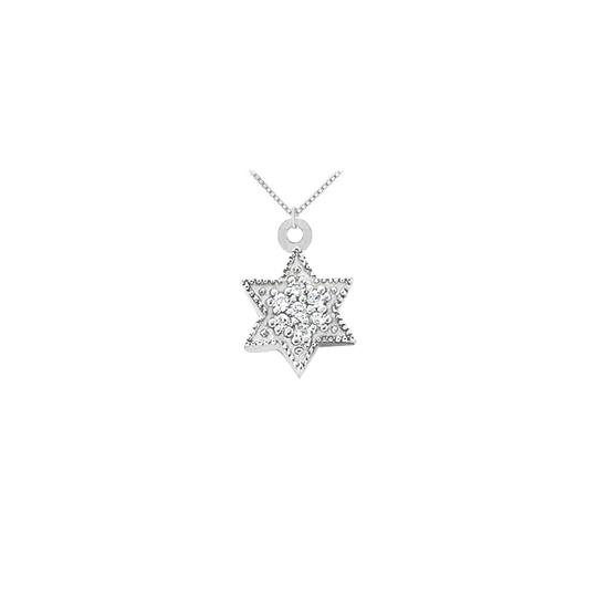Preload https://img-static.tradesy.com/item/23779966/white-cubic-zirconia-star-pendant-in-sterling-silver-010-ct-tgw-with-sterli-necklace-0-0-540-540.jpg