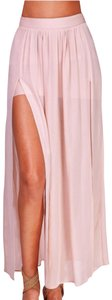 Forever 21 Maxi Skirt pale pink