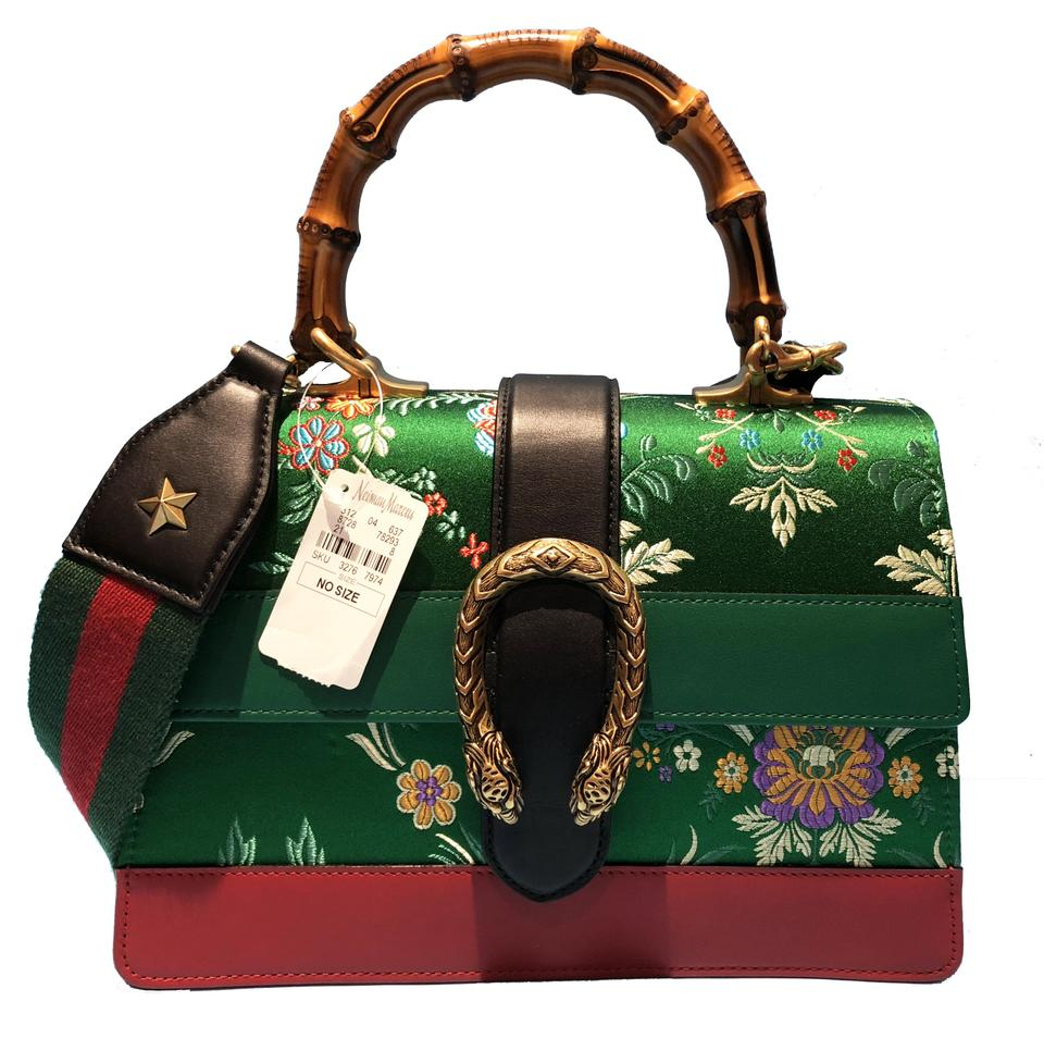 08c6352e20b Gucci Made In Italy Luxury Designer Bamboo Floral Jacquard Crossbody  Shoulder Bag Image 0 ...