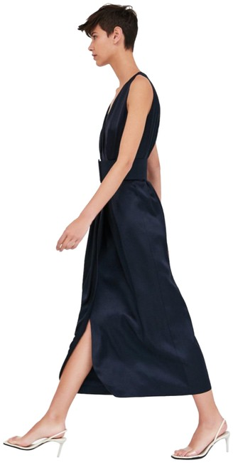 Item - Blue With Belt Long Night Out Dress Size 6 (S)