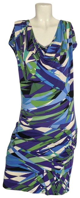 Item - Multi-color Cowl Neck Casual Career Women S Short Cocktail Dress Size 6 (S)