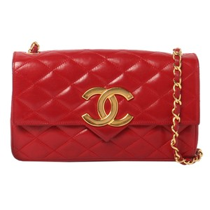 Chanel Vintage Lambskin Leather Flap Cross Body Bag