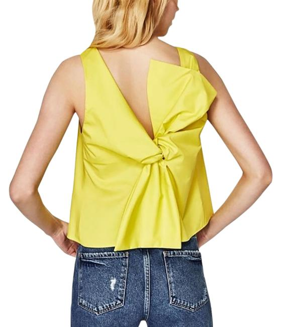 Item - Yellow With Bow At The Back Tank Top/Cami Size 2 (XS)