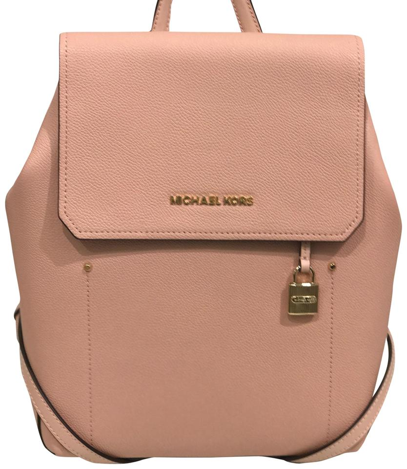 e485711d0d4c Michael Kors Hayes Medium Pstl Pink/ Ballet Pebble Leather Backpack ...