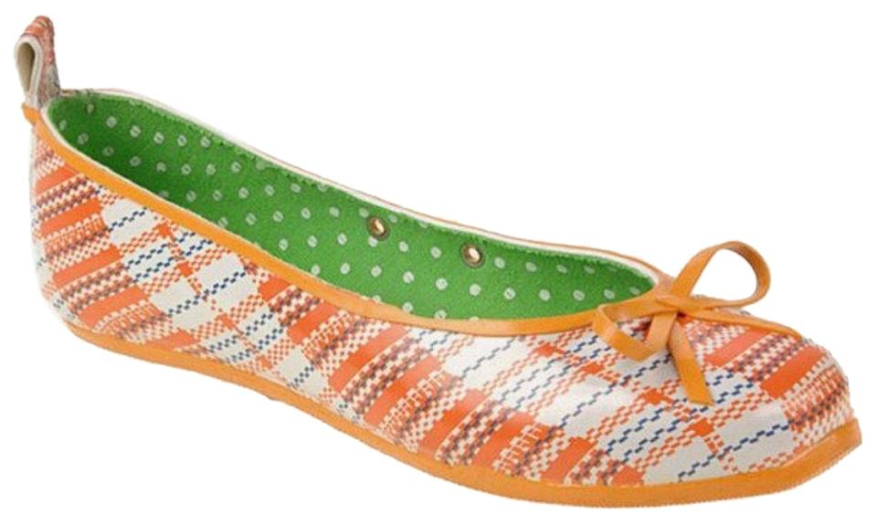 4c84e2ed684 CL by Chinese Laundry Orange Bella Flats Size US 7 Regular (M