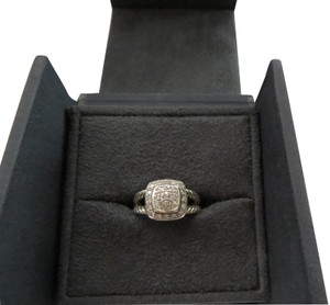 David Yurman Petite Albion Pave' Diamond SS Ring