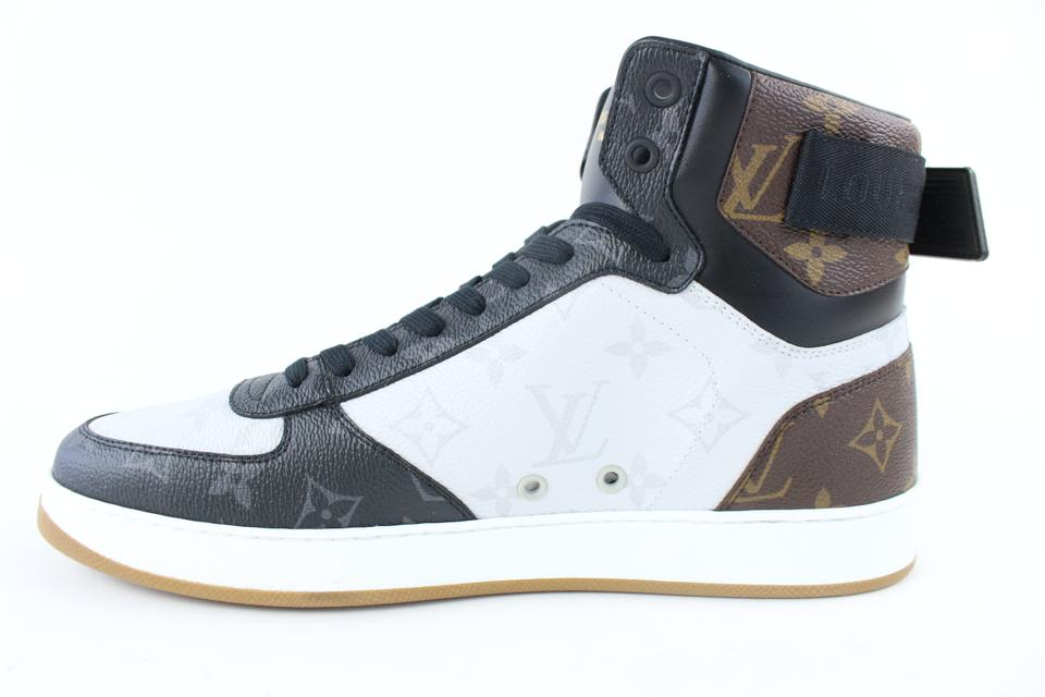 d1af47ae64c9 Louis Vuitton Multicolor Rivoli Hi Top Monogram Sneaker Boot ...