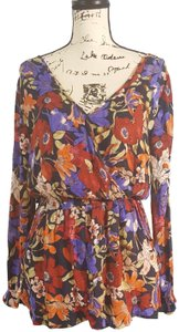 Band of Gypsies Boho Bohemian Floral Tunic
