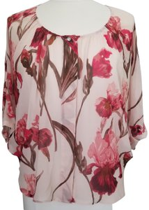 JLo Orchid Floral Sheer Flowers Top Pink