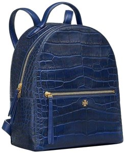 0a9b86600a7 Tory Burch Backpack · Tory Burch. Croc Embossed Navy Blue Leather Backpack.   361.05  495.00