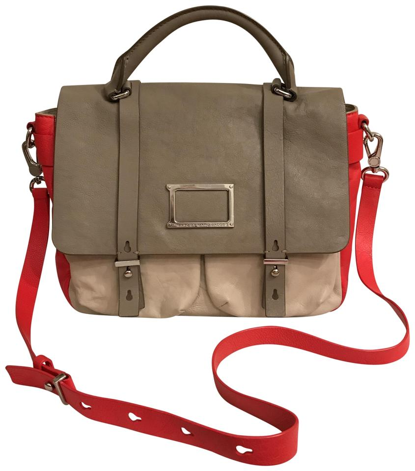 68985cd6ba37 Marc by Marc Jacobs Purse Handbag Cross Body Weekend Travel Color-blocking  Gray Red ...