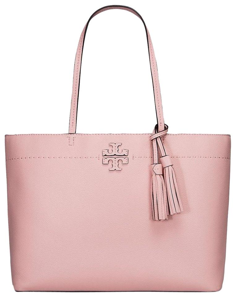 Purse Pink Tory Carryall New Burch Tassle Leather Tote XRwwCIqx